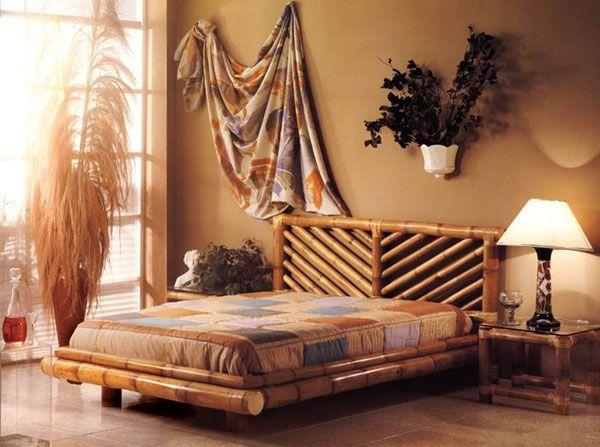односпальная бамбуковая кровать