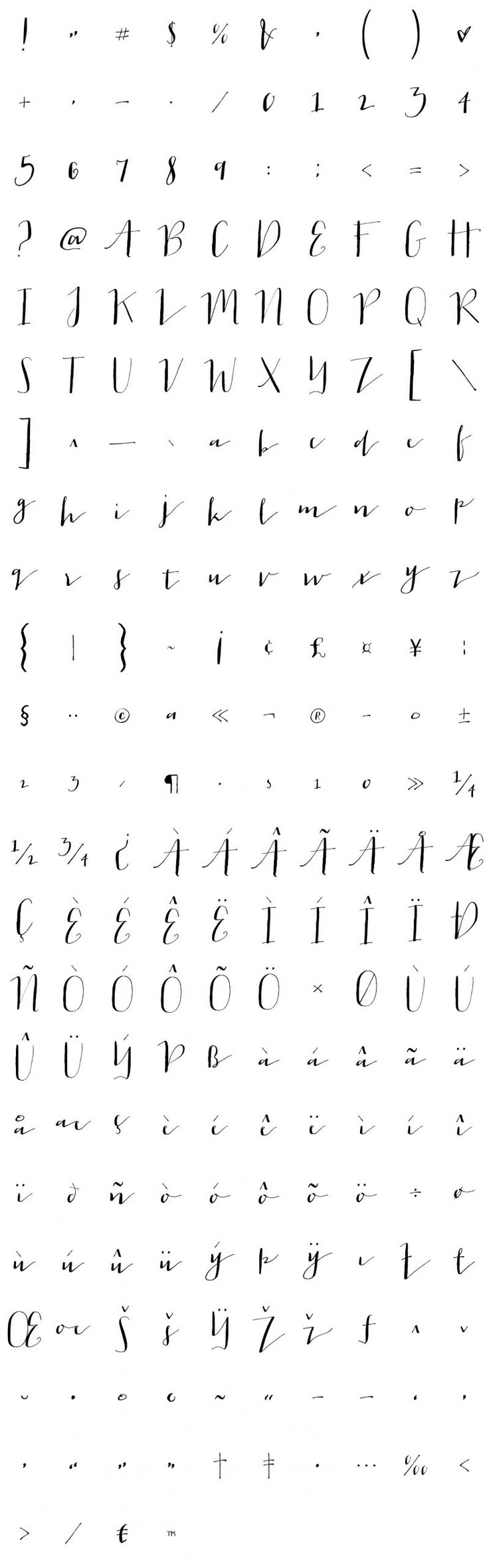 Jacques  Gilles Glyphs - the whole thing for reference                                                                                                                                                                                 More
