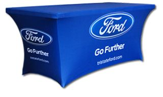 Trade Show Table Covers - Custom Logo Imprinted Table Covers, Tablecloths, Drapes, Throws, Runners