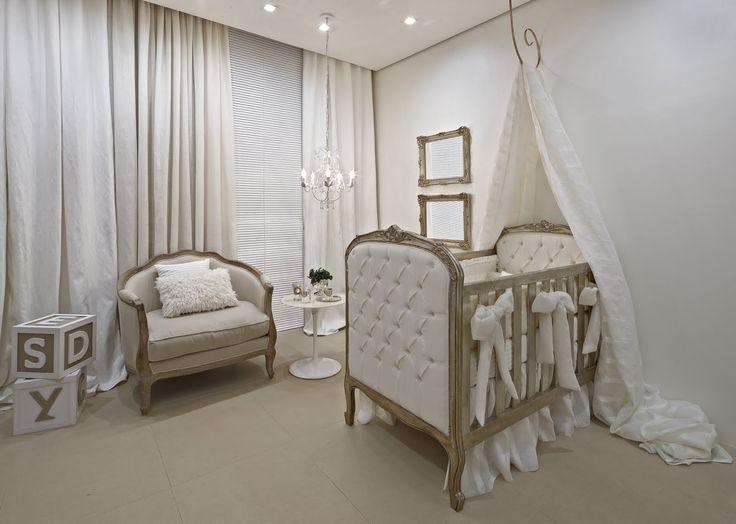 berço clássico - quarto bebê em tons neutros - baby room