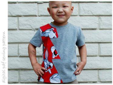 Lightning Shirt - Sizes 2 to 10 | Craftsy | digital pdf sewing pattern