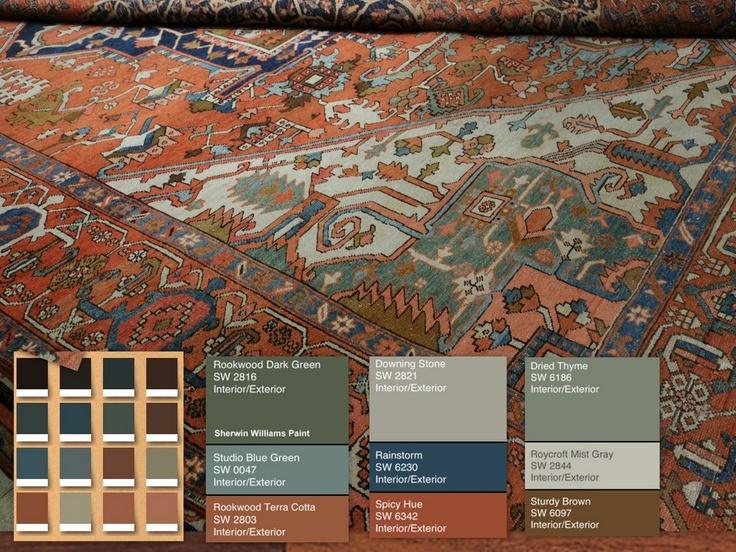 130 Best Rug Color Palettes Images On Pinterest Color