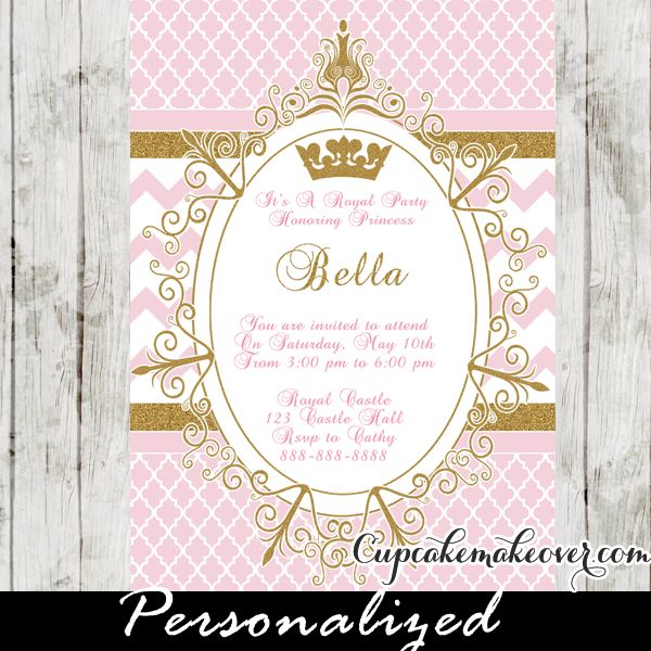 Princess Crown Baby Shower Invitations with great invitations ideas