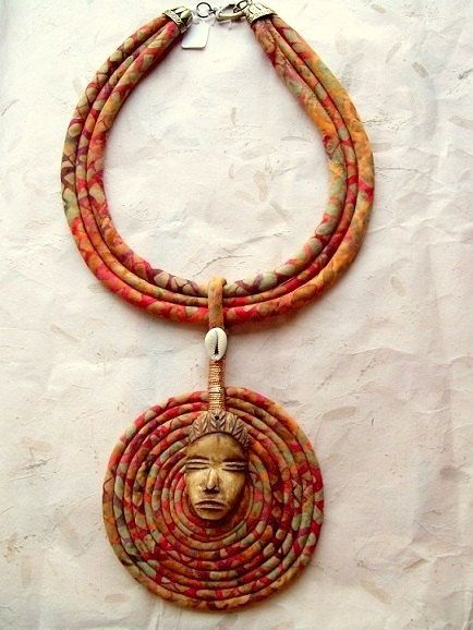 Tribal Cord Necklace with Authentic African by paintedthreads2