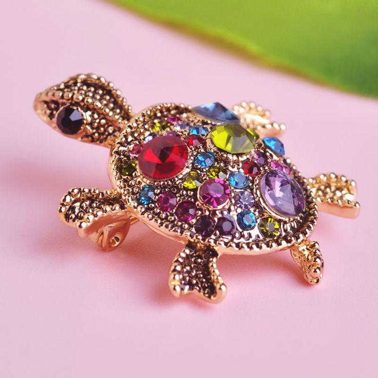 Antieke Vergulde Rode Schildpad Broche Hoed Sjaal Trui Pinnen Up Schildpad Dier Broches Voor Vrouw Beste Geschenken Mooi Kids sieraden
