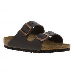 Birkenstock Arizona Leather Sandals - Dark Brown