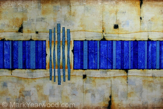 Aqueduct by Mark Yearwood Acrylic/Graphite ~ 40'' x 60'': Colors Combos, Color Combos