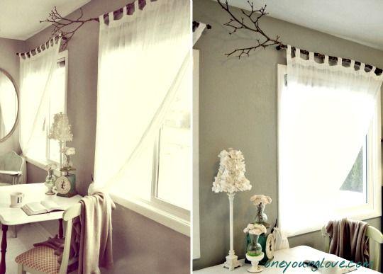 Una rama para colgar la cortina