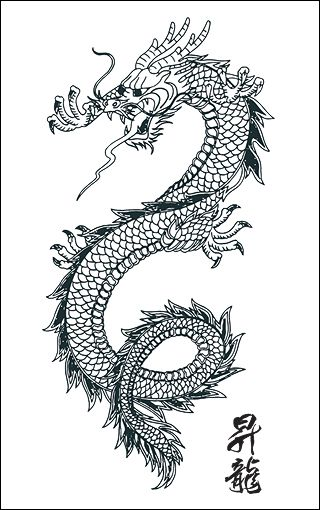 Chinese Dragon Tattoos for Women | western paperback novels