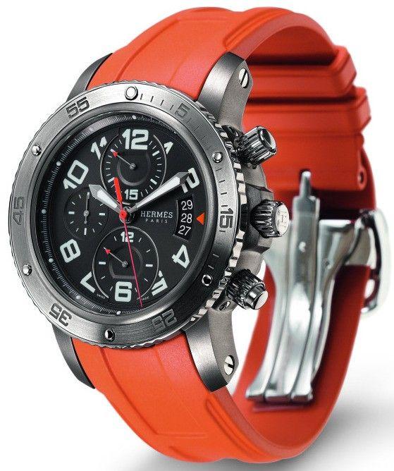 Pinterest shopping for stuff I cant afford again - Hermès Clipper Chronograph 44mm Titanium Watch