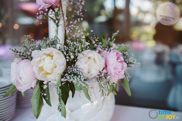 dekoracje ślubne różowe piwonie mazowieckie