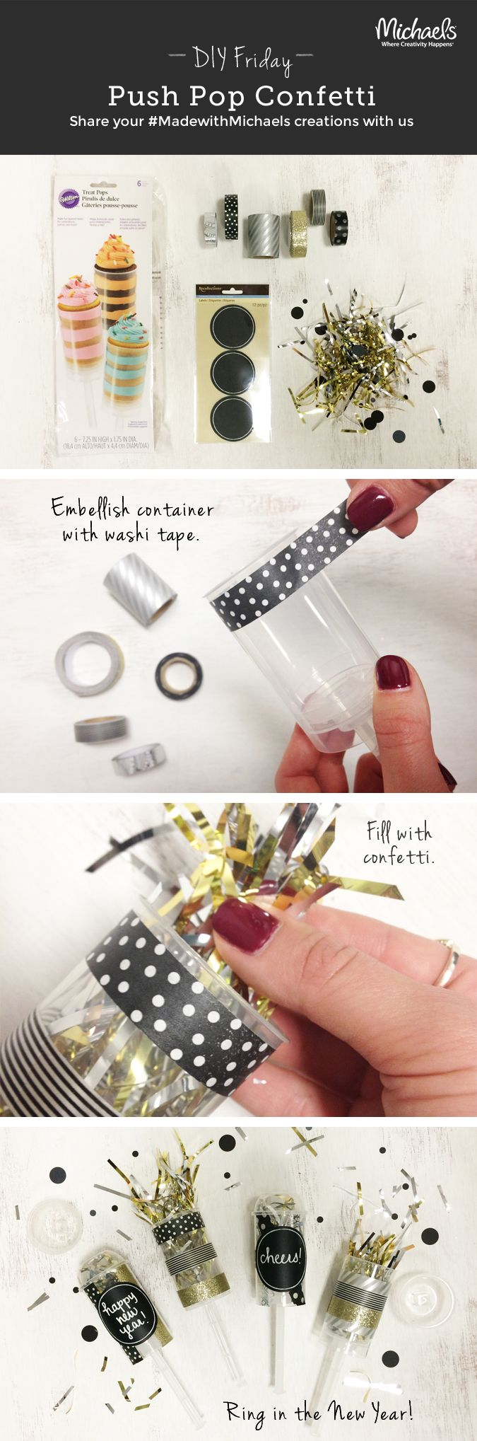 DIYFriday DIY New Years Eve Push Confetti Poppers