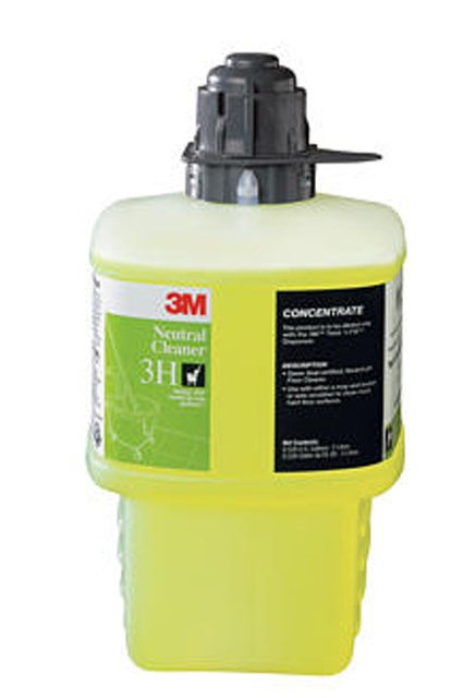 3M Twist'n Fill Neutral Cleaner 3H: Neutral Cleaner 3H for 3M Twist'n Fill dilution system, Green Seal certified