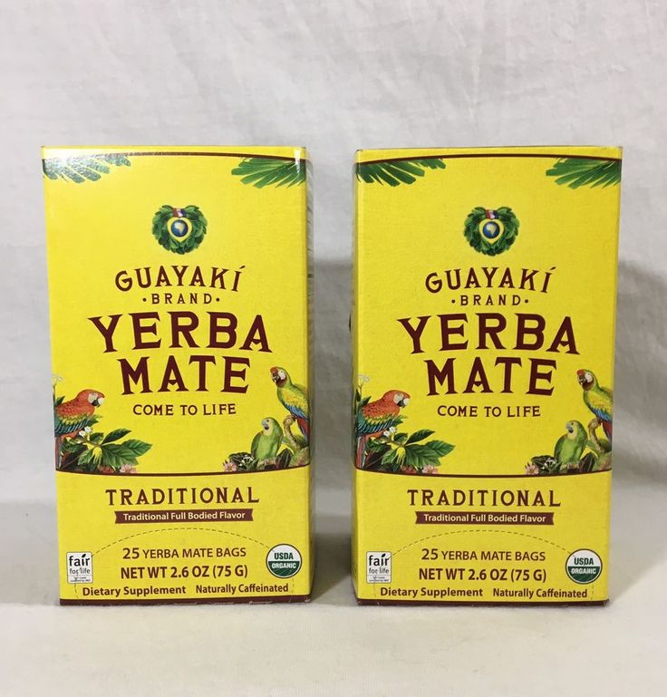 2 Boxes Guayaki Yerba Mate Traditional Tea 25 Bags/Each  exp. 12/15/2019  | eBay