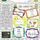 """OWL About Me printable! This is a great first day of school activity.. Included is a colorful printable """"Owl About Me"""" page as well as a  Full size..."""