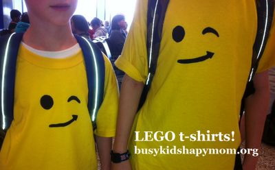 LEGO T-shirts with Freezer Paper Stencil - Busy Kids=Happy Mom