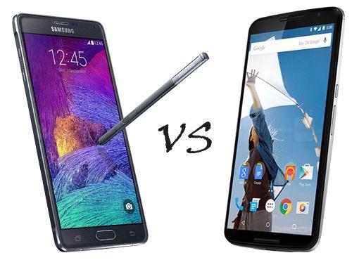 Galaxy Note 4 vs Nexus 6