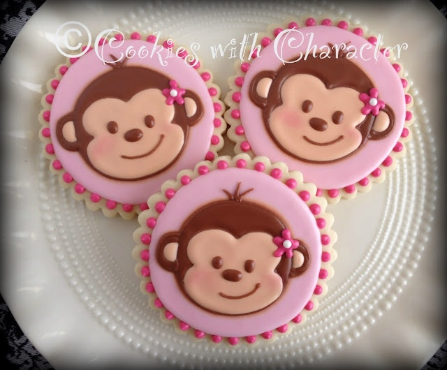 Cookies with Character: Happy Birthday Monkey!!
