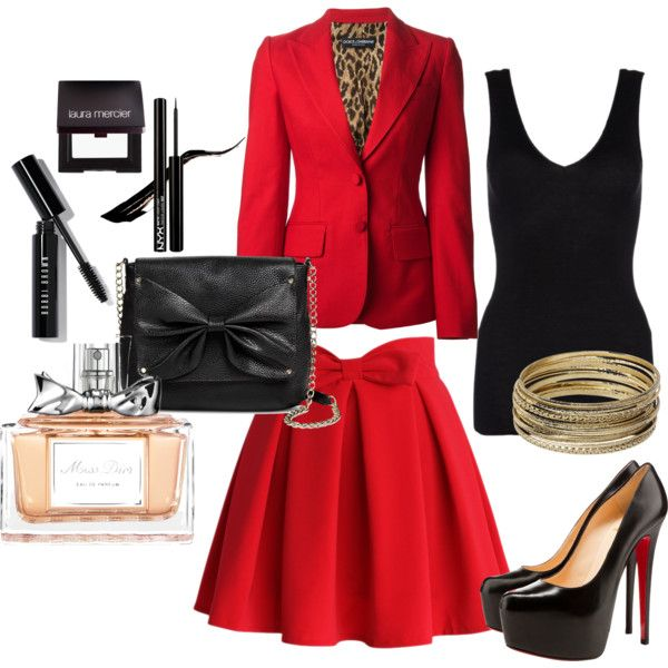 Red Pasion by skezjablog on Polyvore featuring moda, Hanro, Dolce&Gabbana, Chicwish, Christian Louboutin, Sam & Libby, Steve Madden, Bobbi Brown Cosmetics, Laura Mercier and Christian Dior