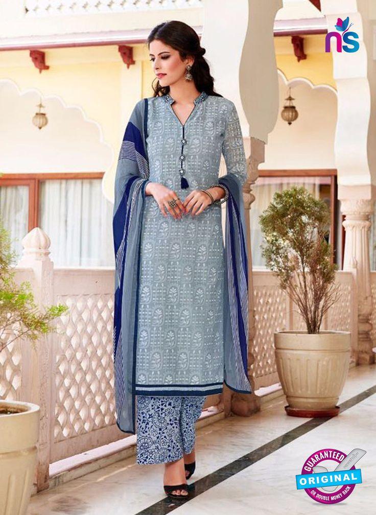 Teazle 2202 grey and blue kota Doria Party Wear Suit
