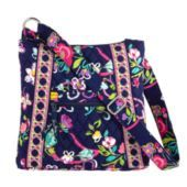 "Vera Bradley ""Ribbons"" Hipster Bag $60.  Vera Bradley contributes 1 million dollars annually to the Vera Bradley Foundation for Breast Cancer."