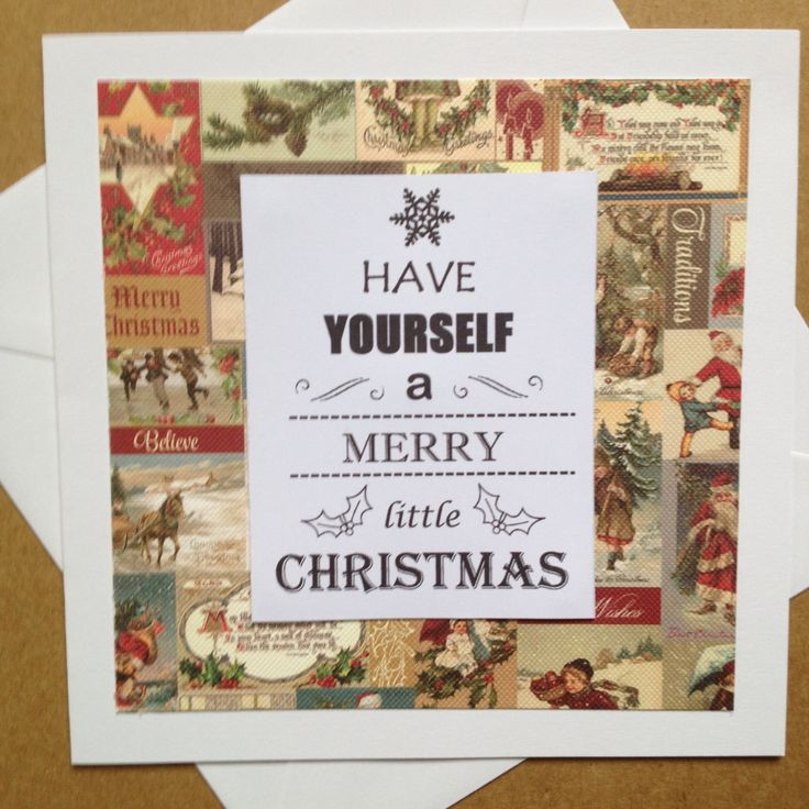 Christmas Song Lyrics Card | Square Christmas Greeting Card | Have Yourself a Merry Little Christmas by Simplistitch on Etsy