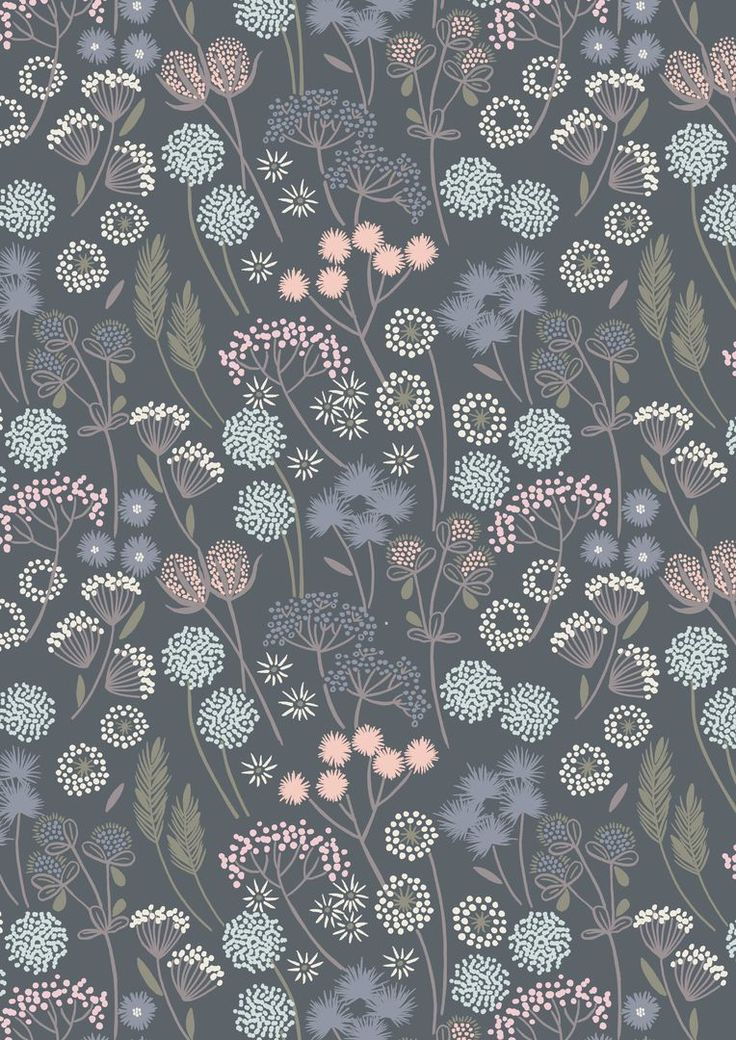A57.6 Hedgerow flowers on grey