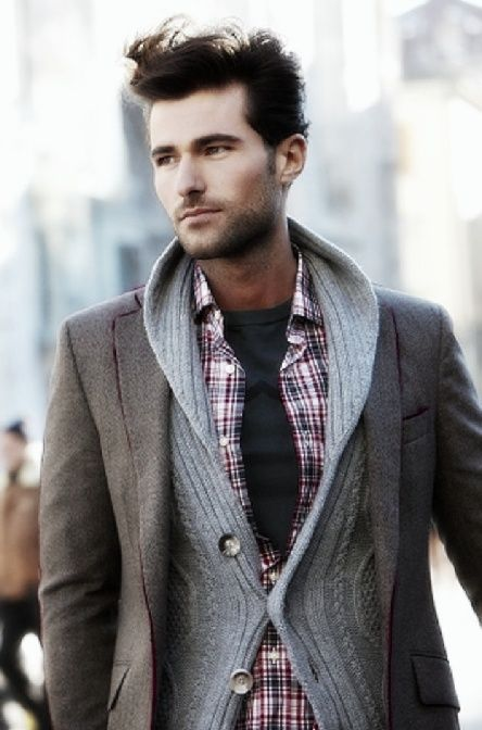 #StealHisStyle for Fall with shawl collared cardigan and blazer