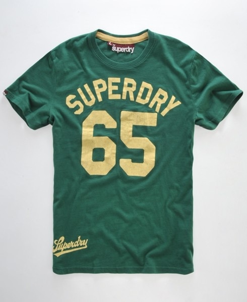 Superdry - Men's Superdry Coaching t-shirt PLYMOUTH GREEN // Sale: $20.00 Save: 60% off