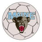 Ncaa University of Maine Cream (Ivory) 2 ft. 3 in. x 2 ft. 3 in. Round Accent Rug