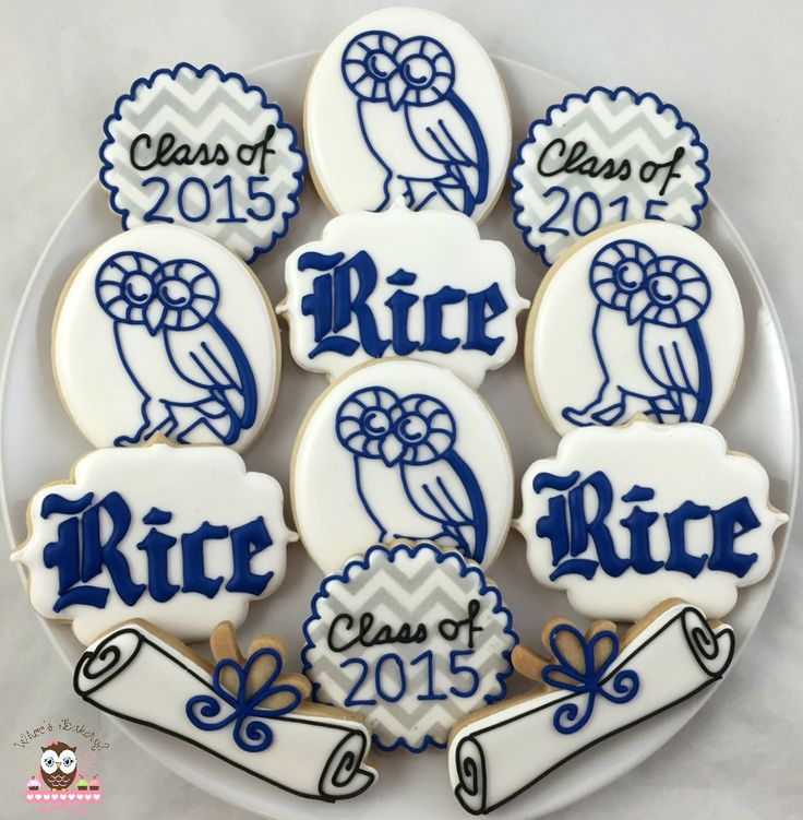 Rice University Cookies, RU Cookies, Rice Owls Cookies