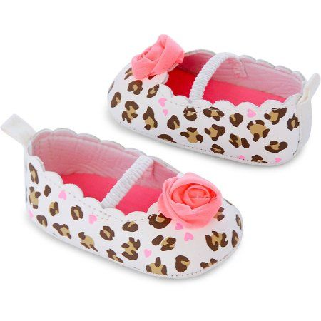 Child of Mine by Carter's Newborn Baby Girl Rosette Leopard Mary Jane Flats…