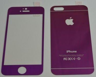 Protecție absolută pentru telefonul tău iPhone 6/6S - folia de sticlă securizată Tempered Glass față + spate violet la doar 49 lei!