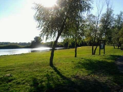 Tiszafüred kerékpáros pihenő park