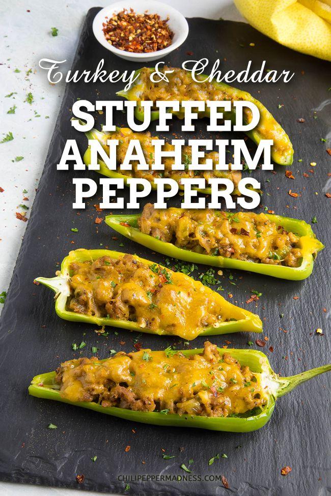 Turkey And Cheddar Stuffed Anaheim Peppers Stuffed Peppers Stuffed Anaheim Peppers Peppers Recipes