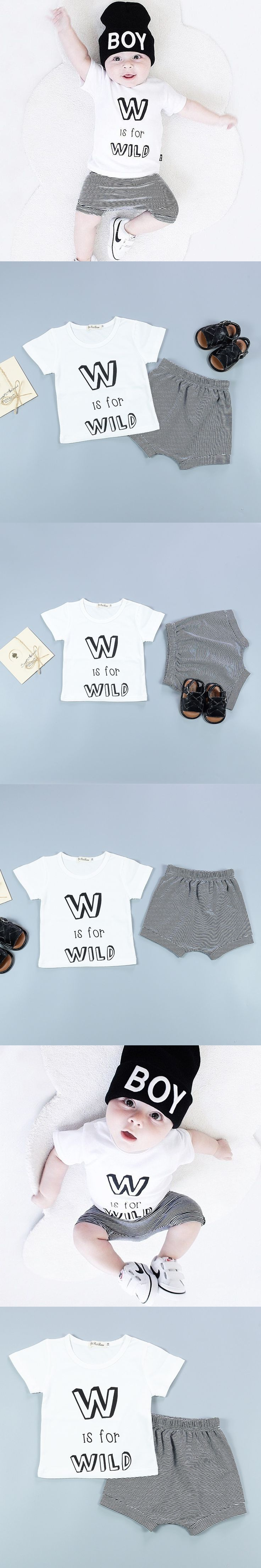 217 New Cheap Baby Boy Clothes Boys Set Cotton Letters T-shirt Shorts 2pcs Short Sleeve Summer Style Kids Costume Clothing Sets