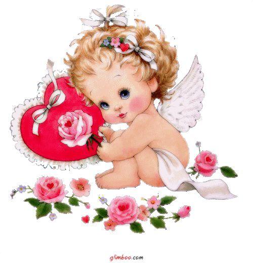 Открытки анимация ангелочки