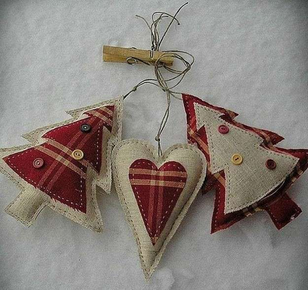 Árbol de Navidad: Fotos de diseños de patchwork - Árboles de Navidad de patchwork para colgar