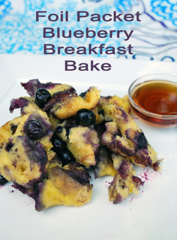 Blueberry Bread Pudding Foil Pack