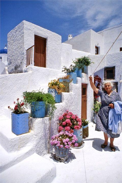 Pyrgos, un luogo dove si ha l'impressione di fare un tuffo nel passato