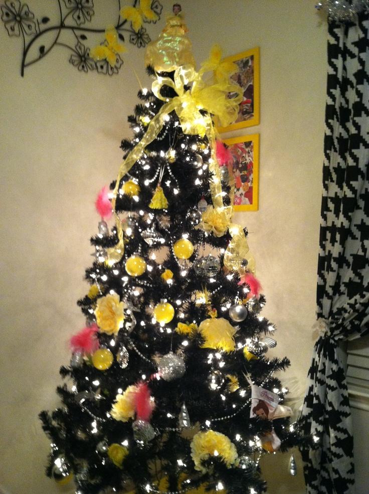 My christmas tree i absolutely love black ad yellow
