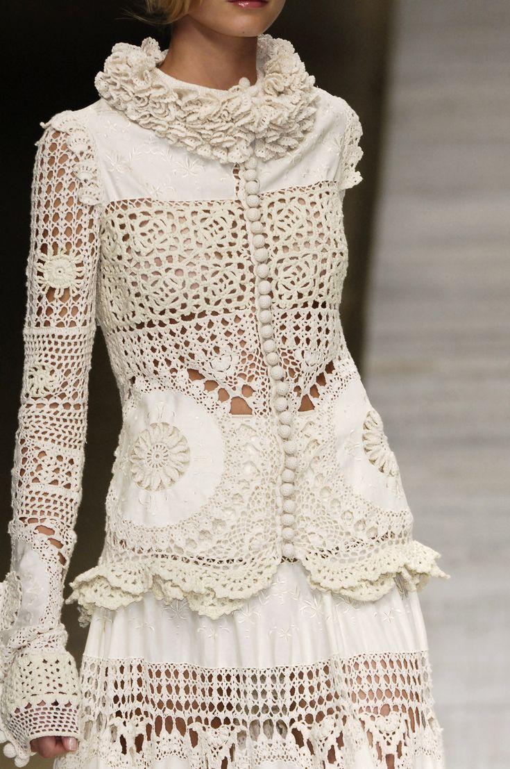 钩针和布的相结合——艳丽的服装 - maomao - 我随心动