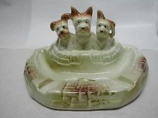 Wembley Ware 3 Puppy Dogs Lustre Ashtray