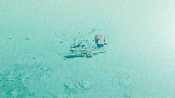 Lake Michigan water sometimes is so clear that you can see shipwrecks on the bottom, as seen in a video taken by the U.S. Coast Guard in 2015.