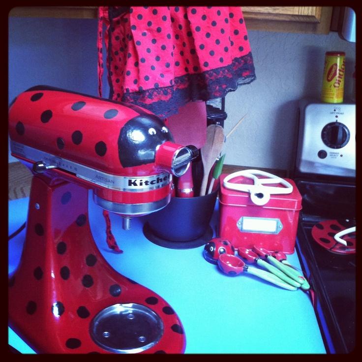 Kitchenaid ladybug. I Made it to match my kitchen.