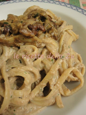 Le ricette della Zu: Bavette con salsa ai funghi porcini