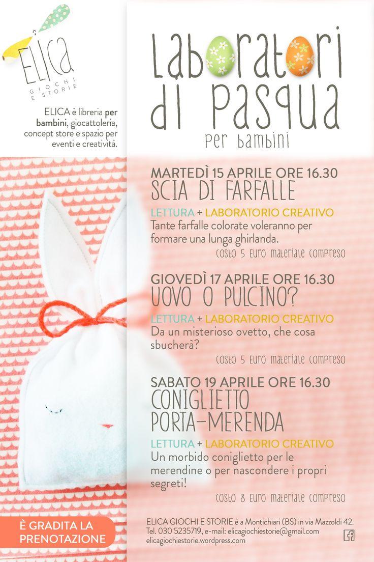 Laboratori di Pasqua, creatività, laboratori per bambini, coniglietto pasquale.