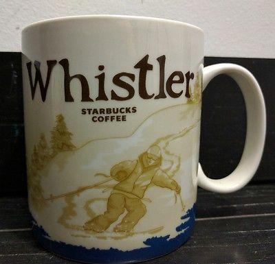 Starbucks Whistler Canada Global Icon Collector Series City Mug 2009 RARE