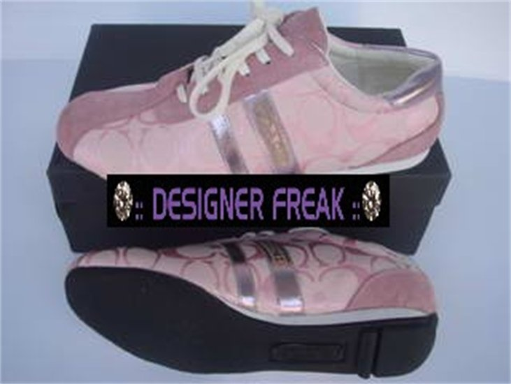 pink coach tennis shoes