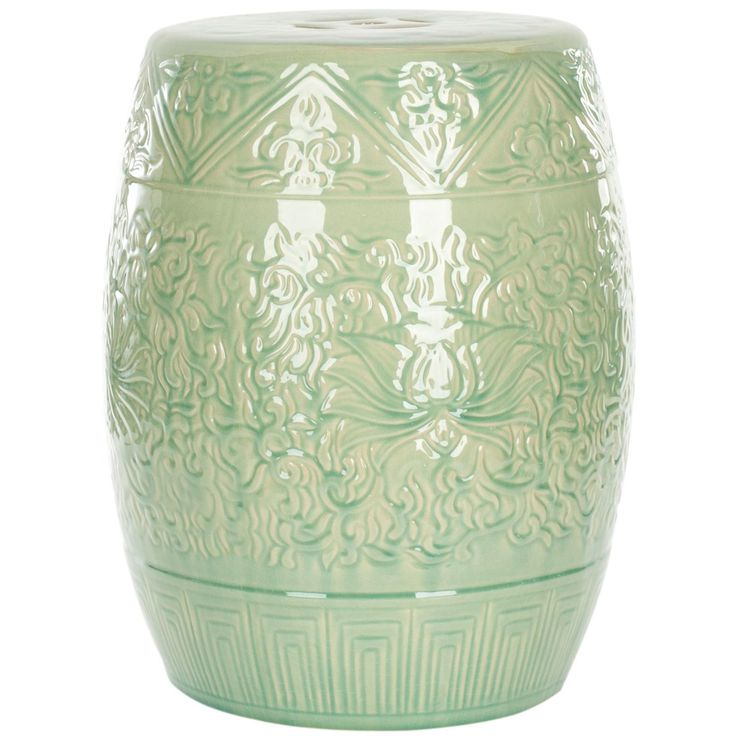 Safavieh Everest Gardens Embossed Ceramic Outdoor Garden Stool   As Any  Gardener Knows, Cultivating Is Full Of Challenges And Setbacks That Require  Care And ...